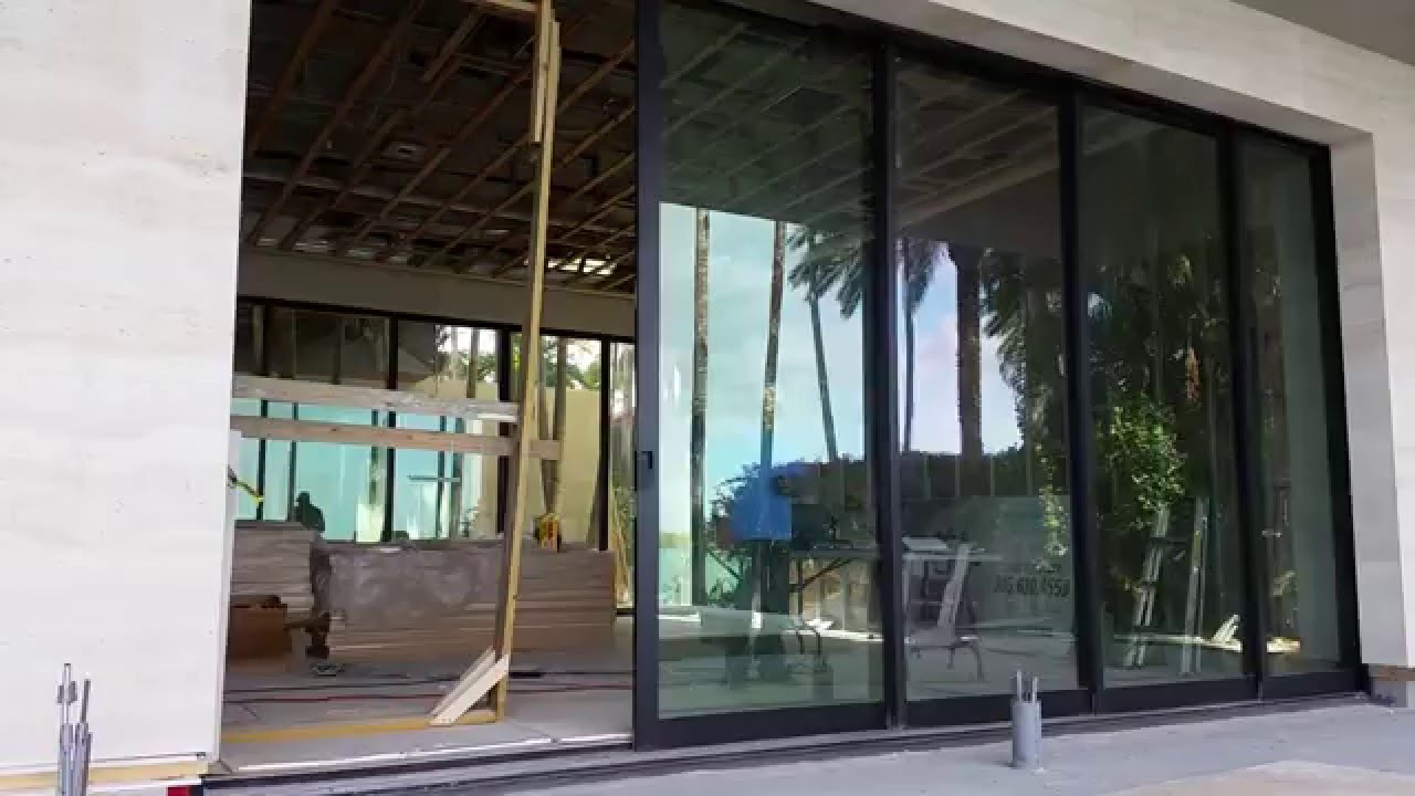 Miami Fleetwood Sliding Glass Door Automation Youtube