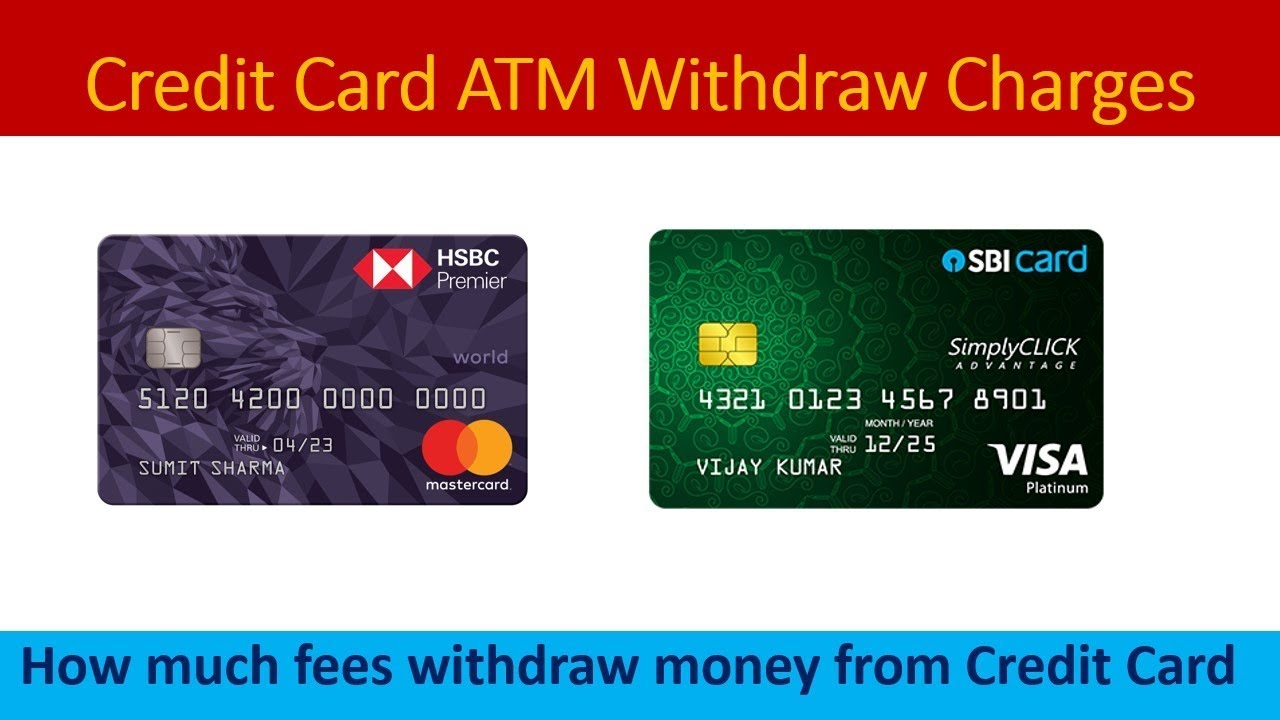 Credit Card cash withdrawal fees from ATM SBI CARD