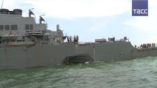 John S  McCain столкнулся с торговым судном недалеко от Сингапура