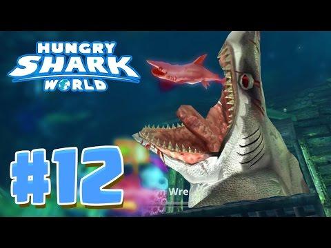 6 EPIC SECRET HIDDEN AREAS ! - Hungry Shark World Part 12 (HSW) - EVIL MEGALODON!