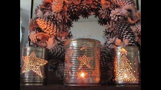 JAK ZROBIĆ LAMPION ŚWIECZNIK ŚWIĄTECZNY Z PUSZKI * ŚWIĄTECZNE OZDOBY * Panorama LeSage