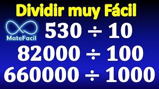 Dividir fácilmente entre 10, 100, 1000...