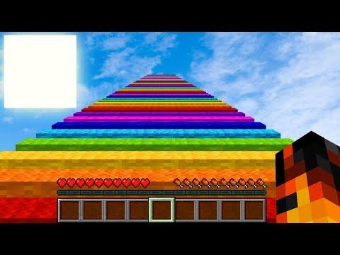 VERDENS LÆNGSTE RAINBOW RUN!? Dansk Minecraft