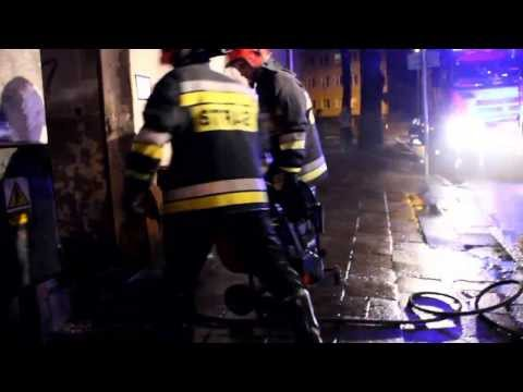 Pożar piwnicy przy ul. Armii Krajowej w Szczecinku