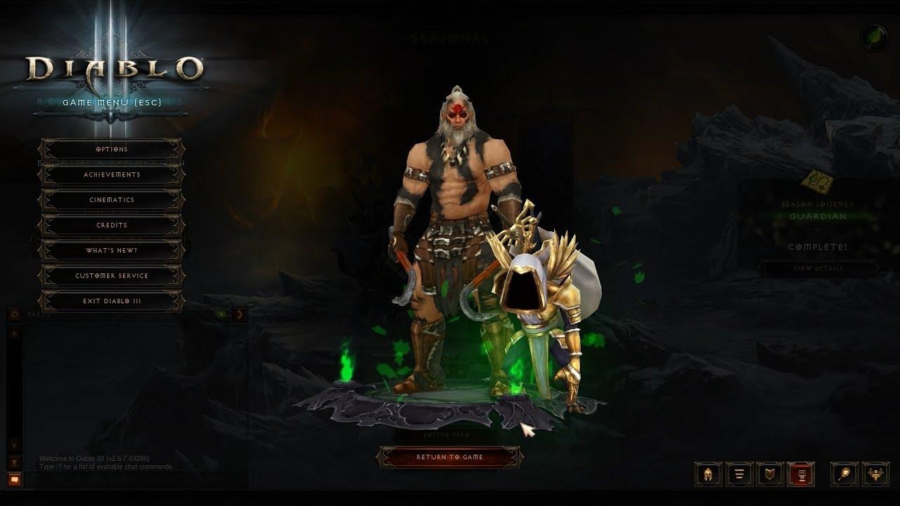 Diablo 3 Season 19 Journey and Conquests PTR
