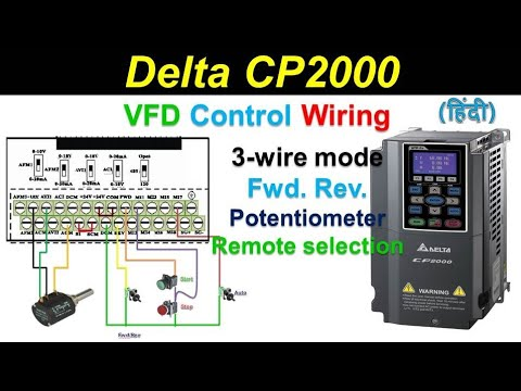 [DIAGRAM_0HG]  🔴Delta drive parameters setting | CP2000/C2000 | 3-wire | remote Start  Stop | reverse forward - YouTube | Delta Inverter Wiring Diagram |  | YouTube