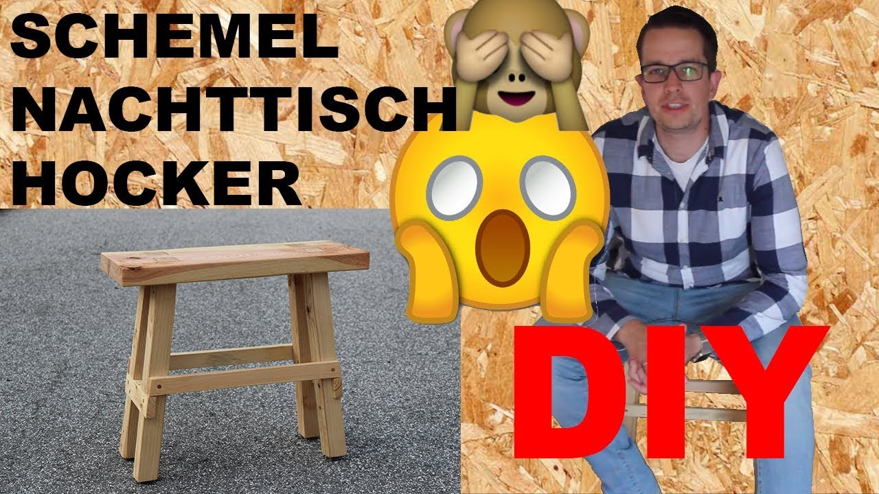schemel selber machen nachttisch holz hocker selber bauen bauholz m bel bauanleitung youtube. Black Bedroom Furniture Sets. Home Design Ideas