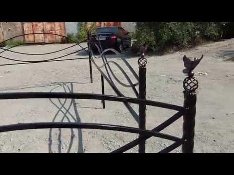 Оградка на могилу название Волна. Днепропетровск Броневик.