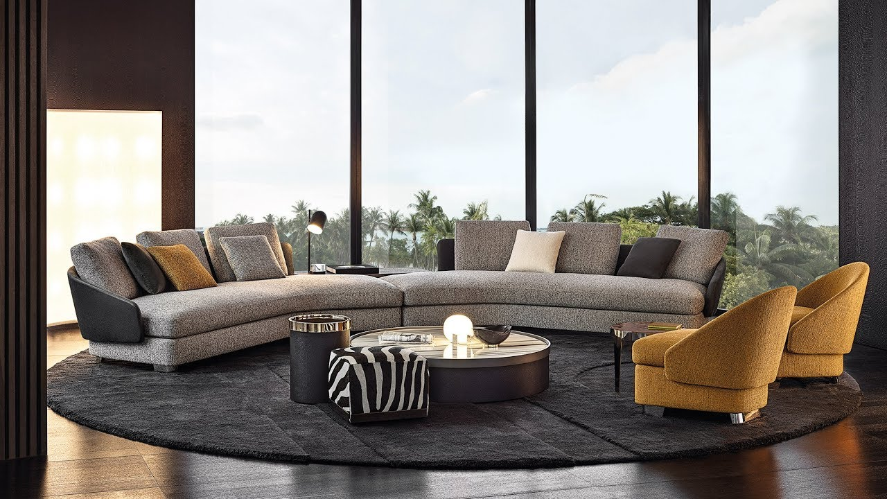 """Minotti explores """"new forms"""" with furniture collection at Milan"""