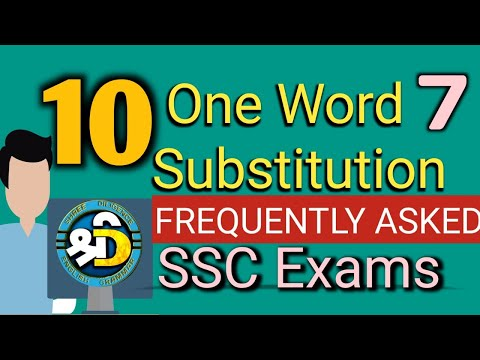 Daily English Conversation | 15 One word substitution | English | SSC Exams | One word substitution6