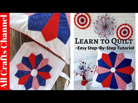 Learn to how to Quilt - Easy step by step video tutorial, Dresden