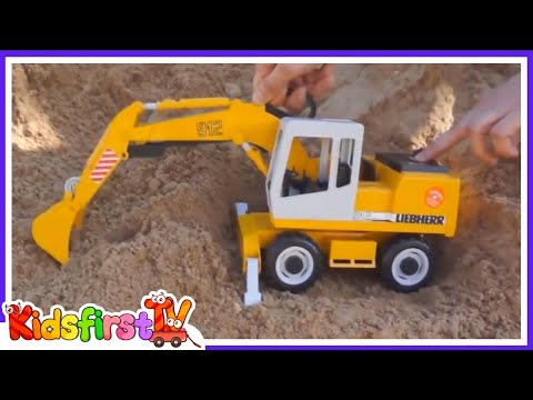 SAND ZOO! with Mofy the Giraffe, Toy Truck & Excavator!