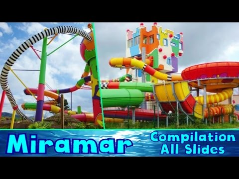 ALL CRAZY WATER SLIDES at Miramar 2016! [Compilation]