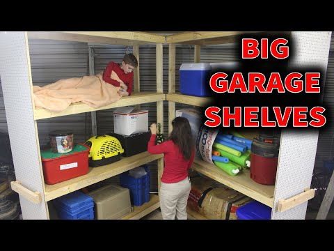 Heavy Duty Mobile Garage Shelves Storage Ideas // DIY How-To