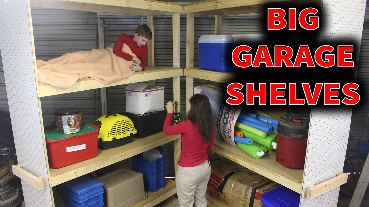 Garage Shelving Design Ideas Heavy Duty Mobile Garage Shelves Storage Ideas Diy How To