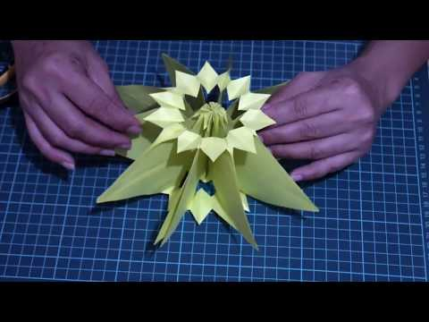 How to make paper star lantern... [Christmas Decoration]