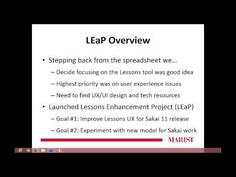 Sakai Showcase Webinar: The Lessons Enhancement Project