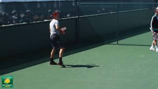 Roger Federer Hitting Topsin Forehand Moonballs in Slow Motion HD -- Indian Wells Pt. 13