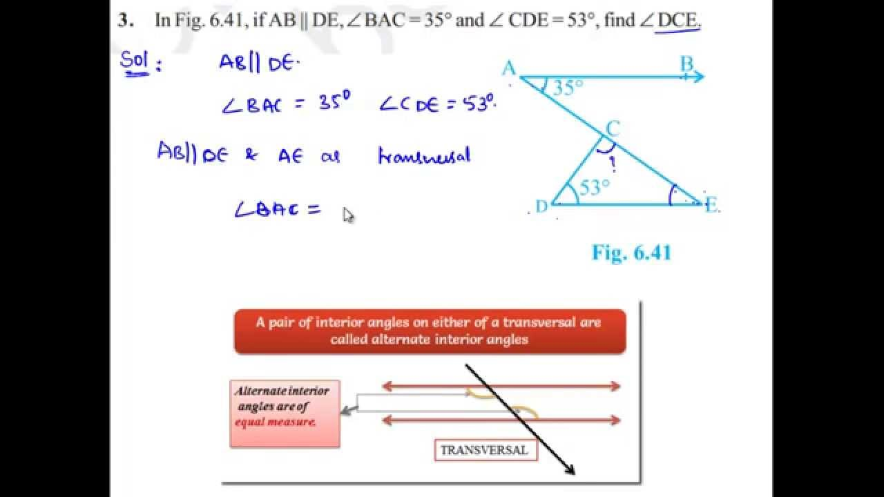 NCERT Solutions for class 9 Maths Chapter 6 Lines and Angles ...