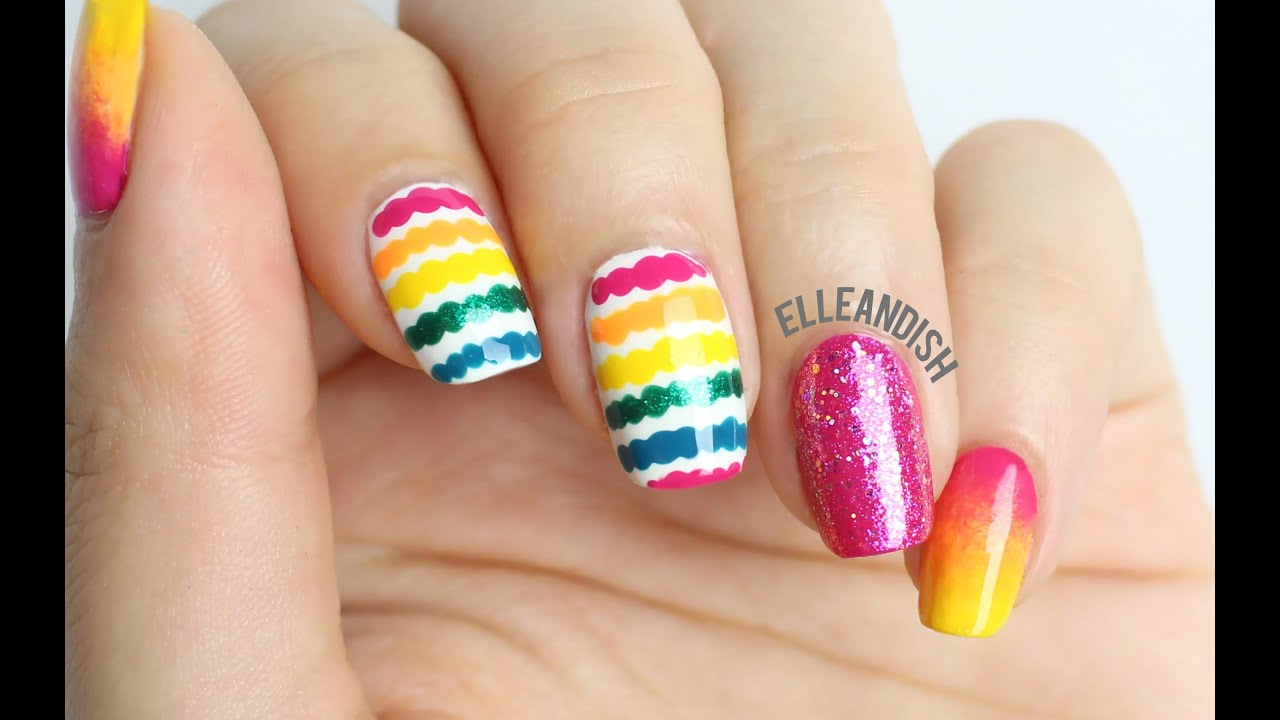 Simple Line Nail Art : Easy nail art how to dotted lines youtube