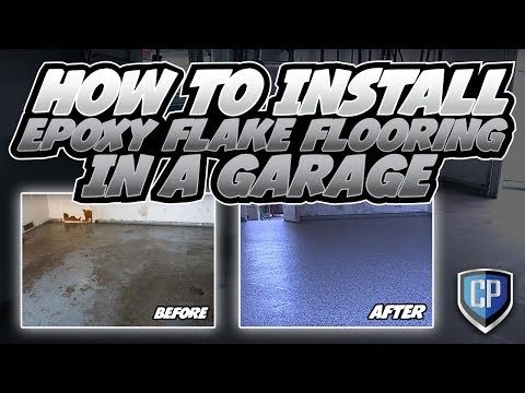 How To Install Epoxy Flake Flooring In A Garage