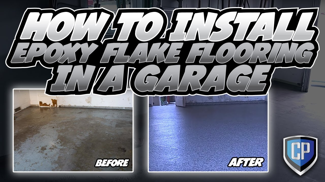 How To Install Epoxy Flake Flooring In A Garage - YouTube