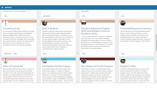A bengal success portal (starfish) overview for students, featuring the new (2018) starfish interface.