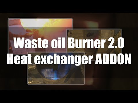 "SUPER HOT! Waste oil burner 2.0 ""Heat exchanger ADDON"""