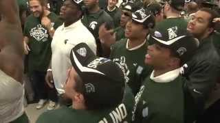 Repeat youtube video MSU Celebration after Big Ten Championship win over OSU  | Current Sports | WKAR