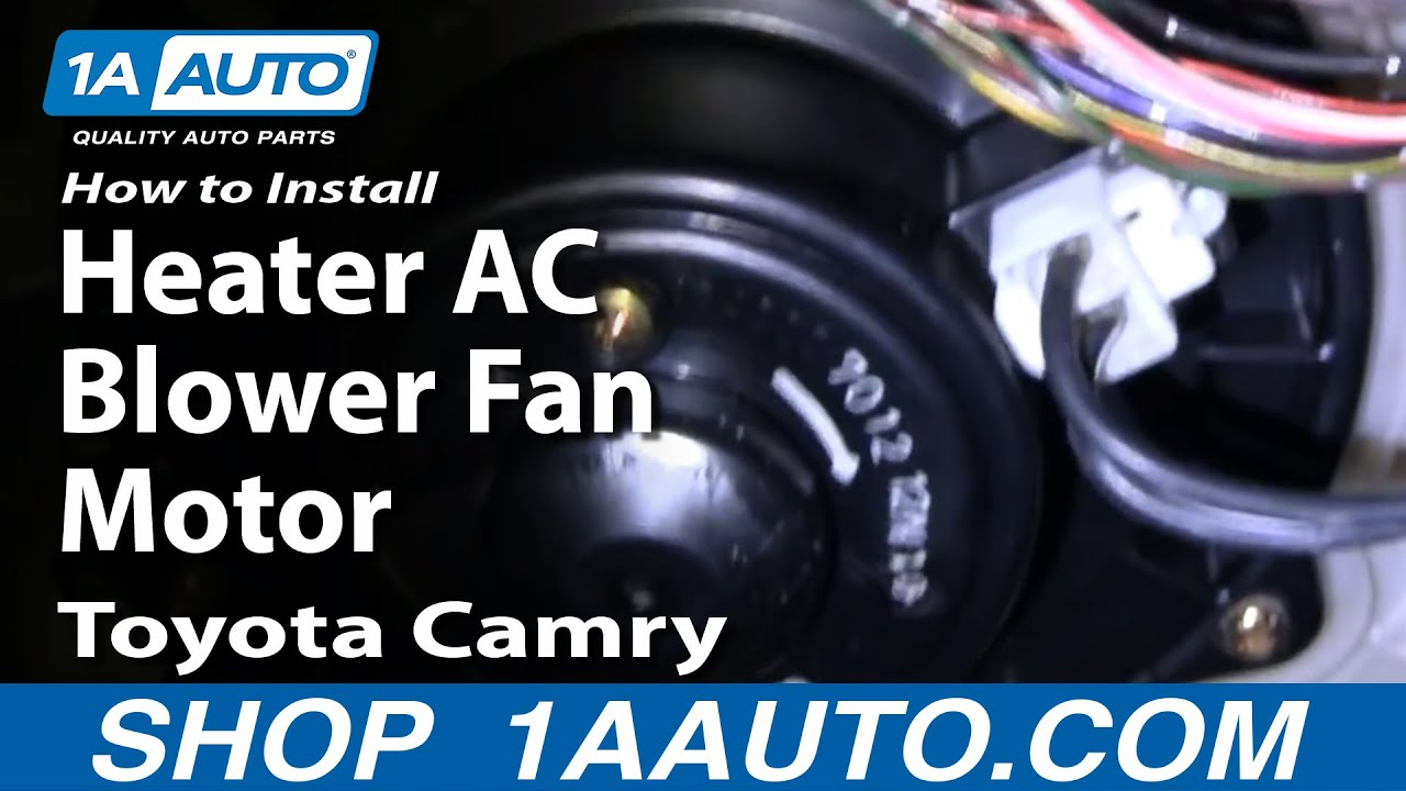 How to Replace Heater Blower Motor 9296 Toyota Camry