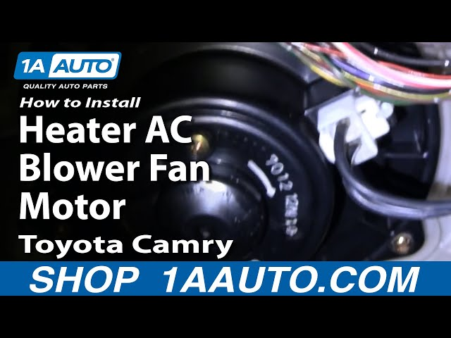 How To Replace Heater Blower Motor 92 96 Toyota Camry 1a Auto