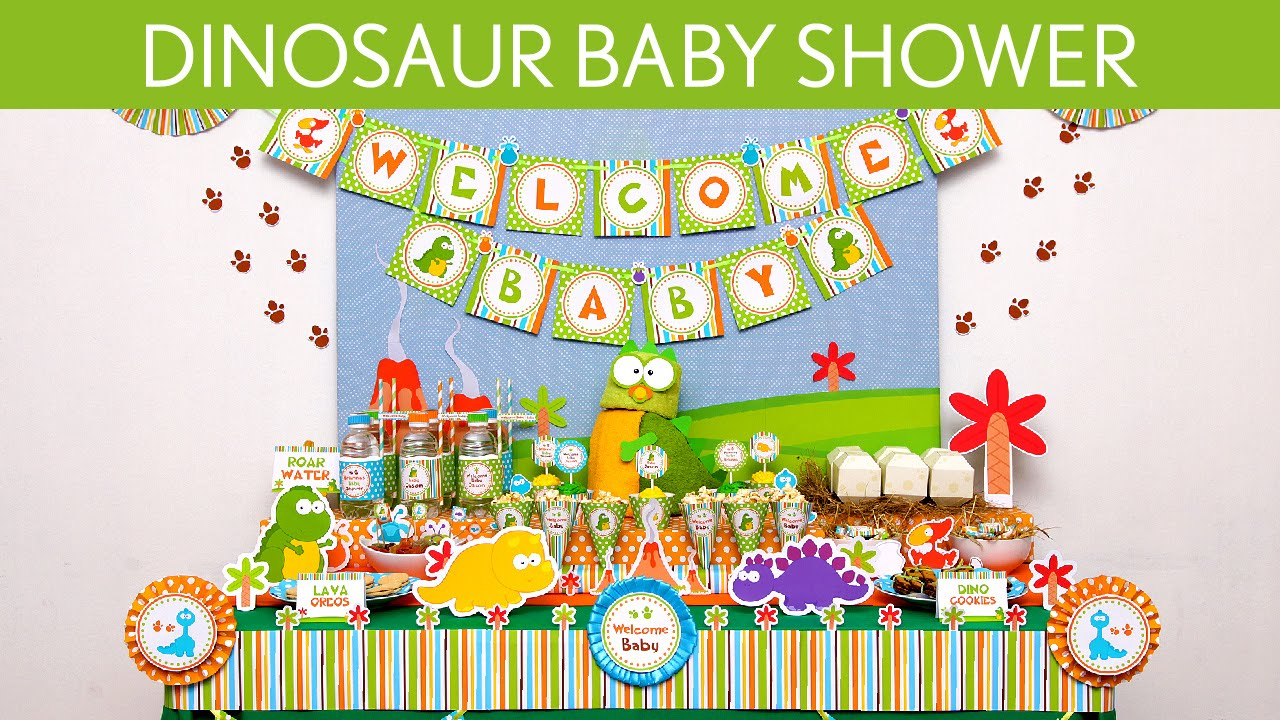 Exceptional Dinosaur Baby Shower Party Ideas // Dinosaur   S24   YouTube