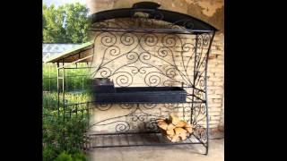 видео мангалы для дачи с крышей