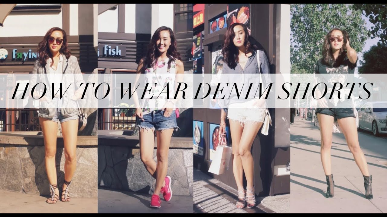 How to Style Denim Shorts - YouTube
