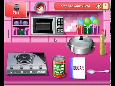 Permainan Memasak Pizza Permainan Kelas Memasak Sara Valentine Pizza Youtube