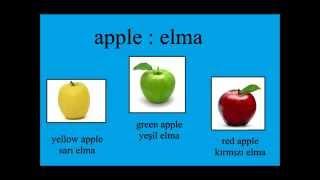 Fruits - Meyveler Turkish Lesson - Türkçe Ders