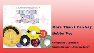 Those Were The Days Vol.1 #14 More Than I Can Say - Bobby Vee