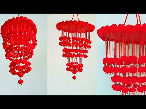 Download Diy Woolen Jhumar With Pom Pom/ Wall Hanging Craft Idea| Wall Decoration idea| Woolen Jhumar Making