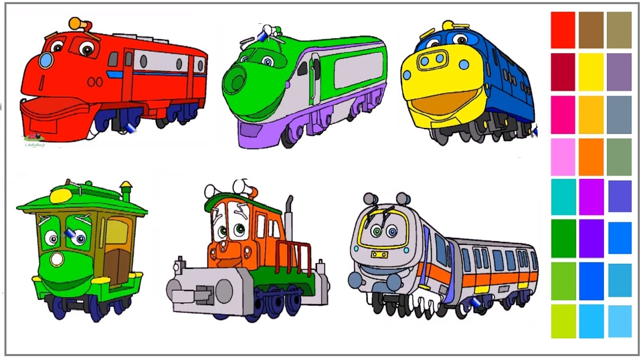 Disney Chuggington Coloring Pages Youtube