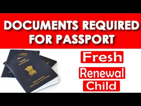 What Are The Documents Required For Indian Passport || Fresh | Renewal | Child