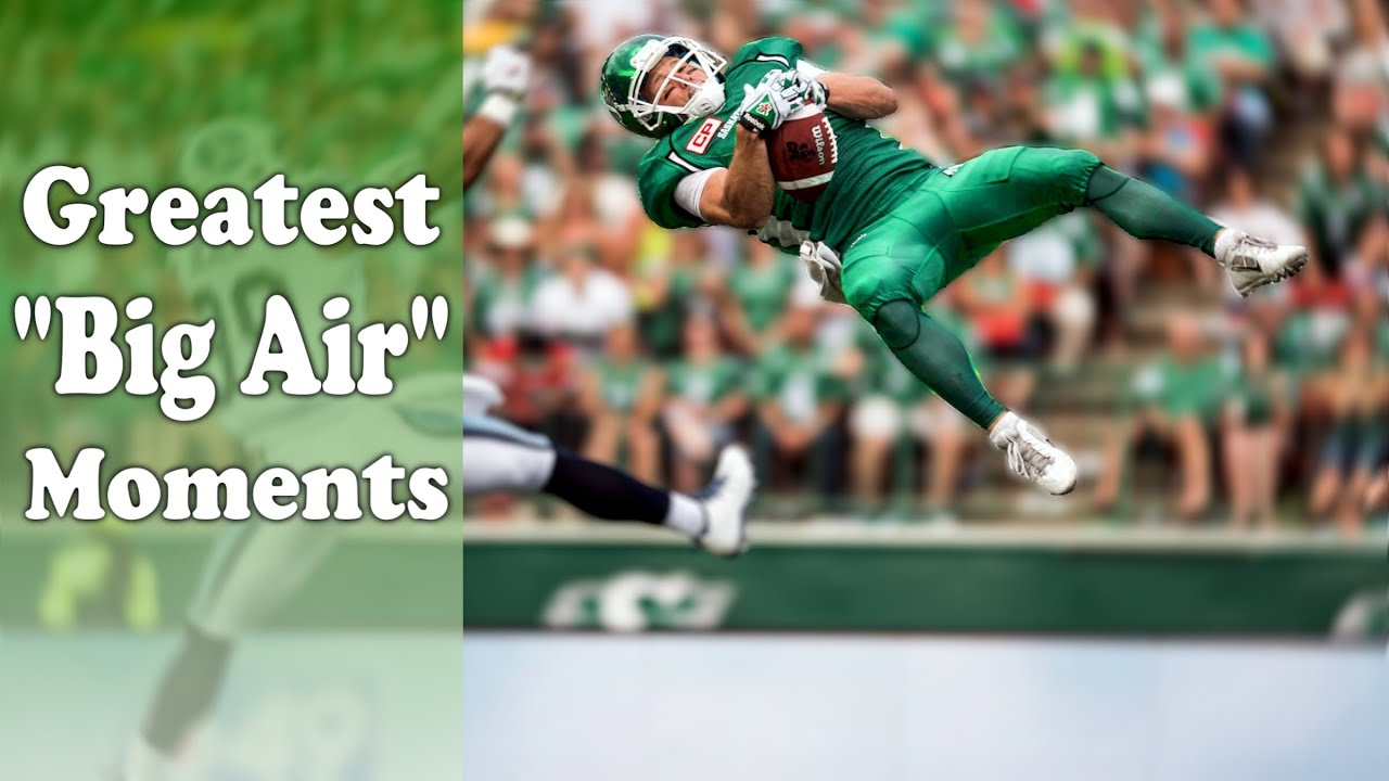 """Greatest """"Big Air"""" Moments in Football History (Airborne Plays)"""