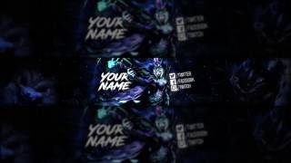 FREE LEAGUE OF LEGENDS BANNER TEMPLATE   FREE DOWNLOAD