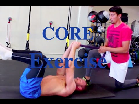 Lordosis Core Exercise (Banded Dead Bug)