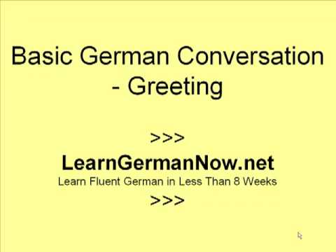 Learn How To Speak German