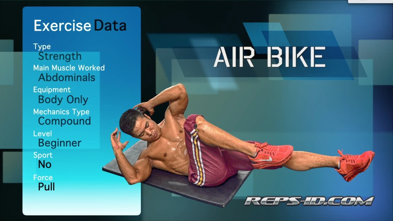 REPS-ID.com - ABS Exercise - Air Bike - YouTube