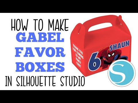 GABEL FAVOR BOX TEMPLATE IN SILHOUETTE STUDIO HOW TO MAKE