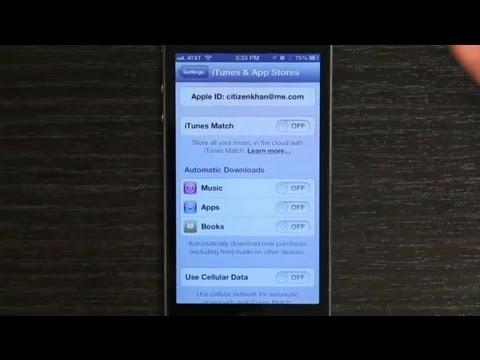 how to change apple id on iphone 4 youtube