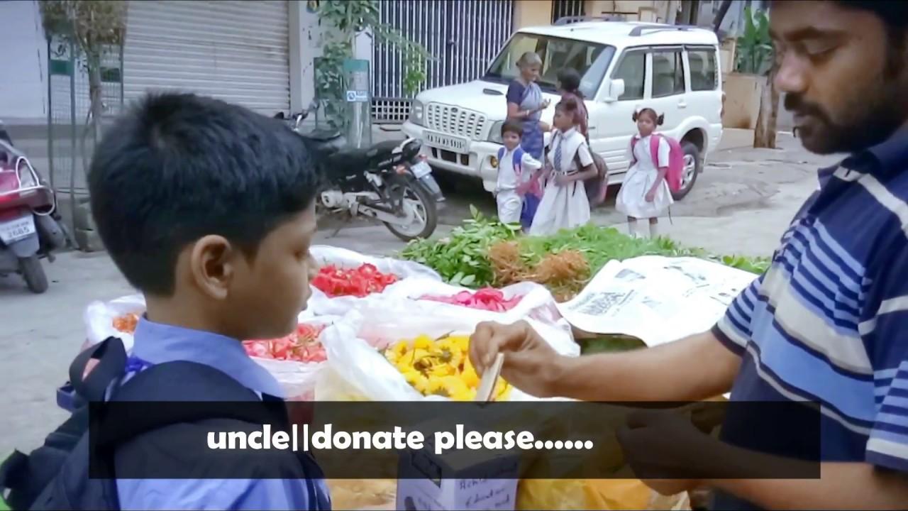 Award Winning Inspirational hindi Shortfilm||Kid Asking Donation for Education
