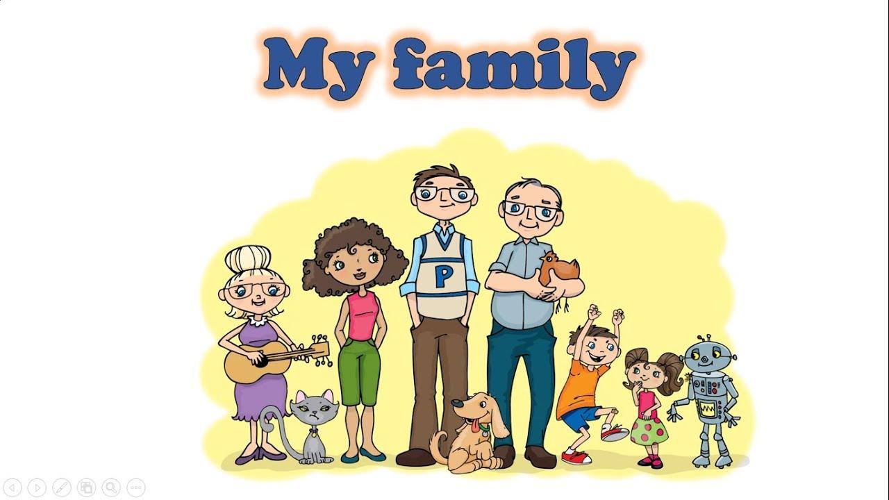 Моя семья на английском языке. - YouTube