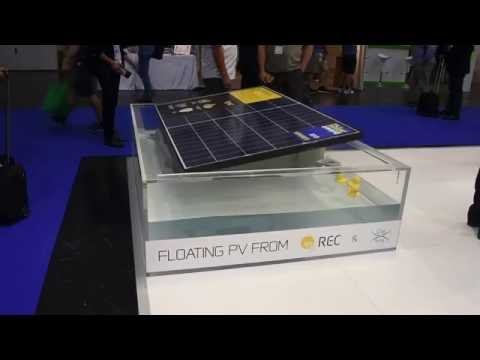 Floating Solar Panel from REC at InterSolar 2016